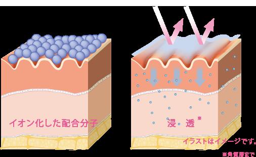 イオン化状態浸透力イメージ図